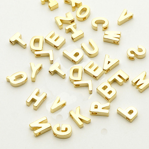 wholesale top quality gold plated alphabet charms 27pcslot capital letter charmsinitial charm