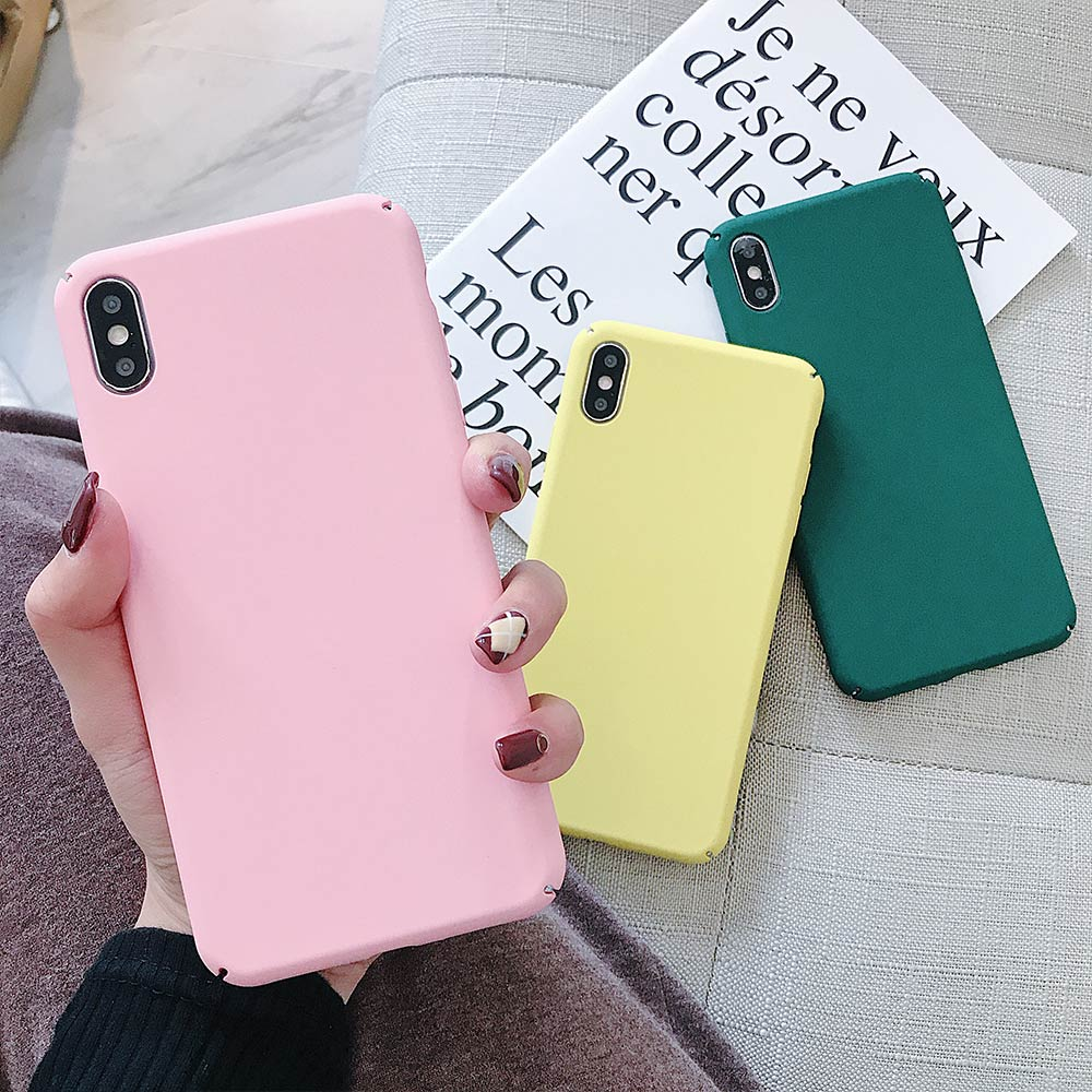 Buy it! Phone Case For iPhone X XS XR XS Max Back Cover For iPhone 8 7 6 8 Plus 6S Plus 5S 5 Anti-fingerprint Matte Phone Case image