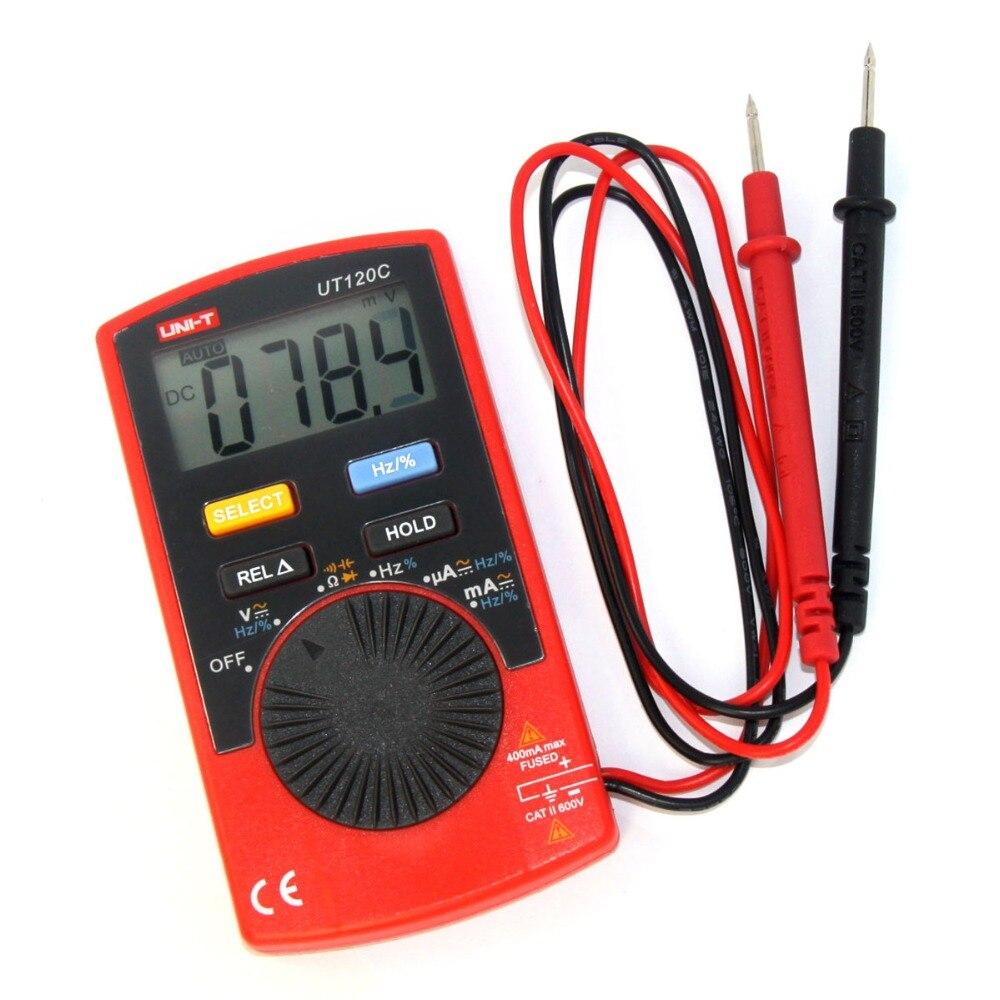 Free Shipping UNI-T UT120C Pocket Size Digital Multimeters Handle Voltage Test Measure Hand Tools Repair ferramentas multimetro