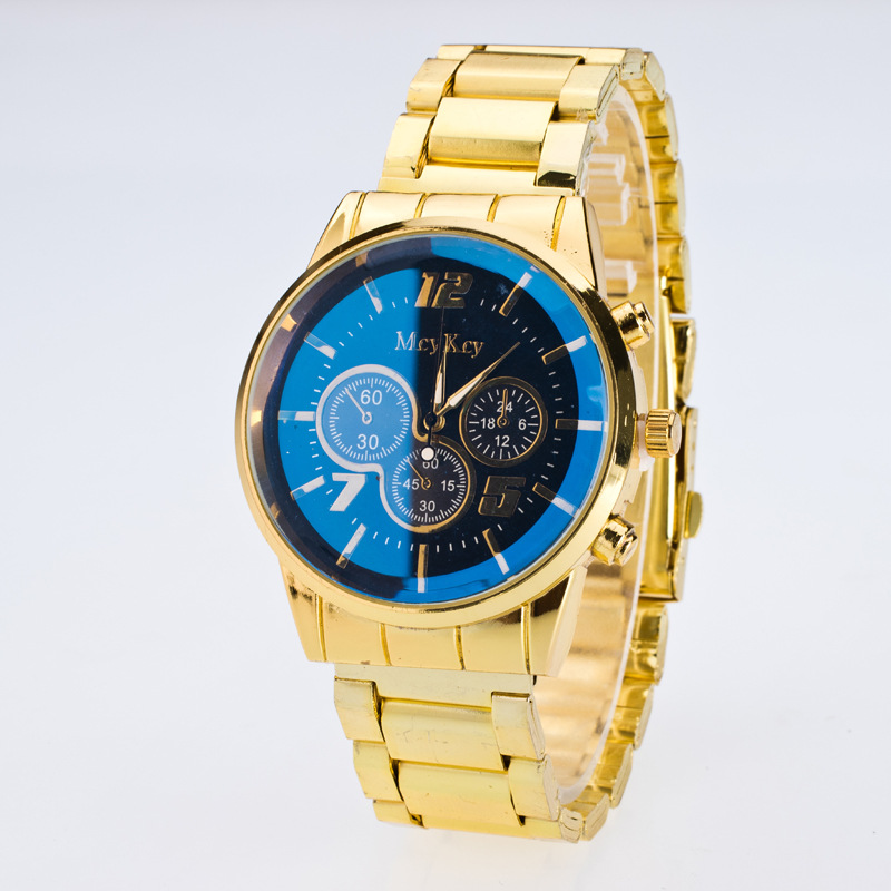 2017 new fashion watch gold color mens watches casual top brand luxury hot selling men watch - Color Watches