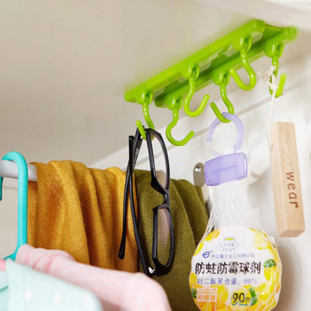 1pc Wall Mounted Hooks For Hanging Kitchen Gadget Hook Key Holder Kitchen  Cabinet Wall Hanger