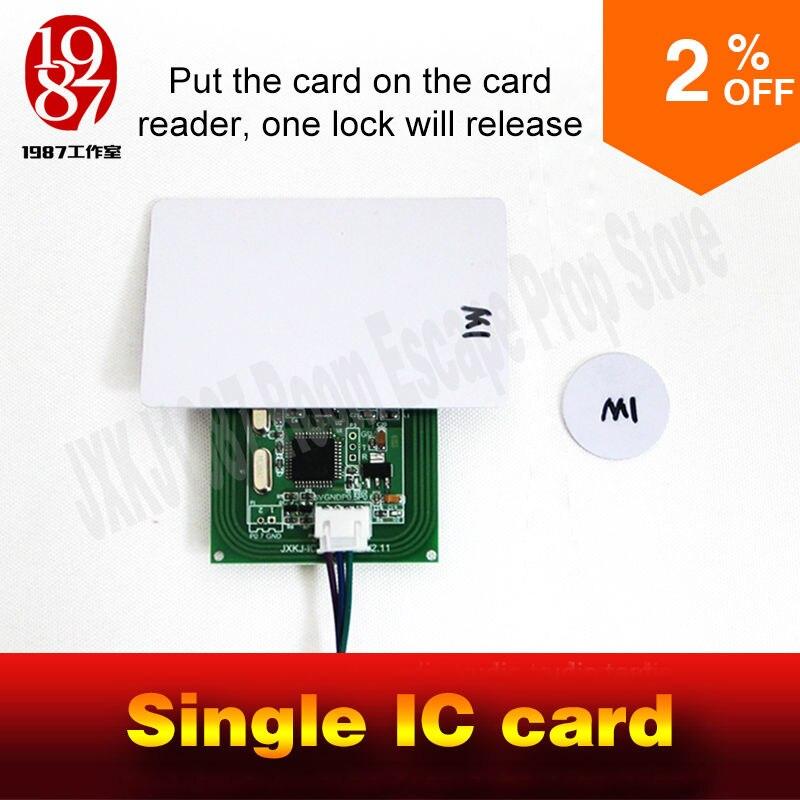 Live escape prop takagism Real life номер побег реквизит jxkj одна IC карта, чтобы открыть дверь фото или другие объекты, чтобы разблокировать