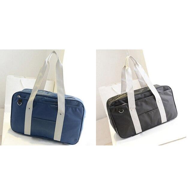 235d8079c1 Japanese Handbags Oxford Travel Bag Solid Color School Students Bookbags  Single Square Satchel Bolsa Women Shoulder