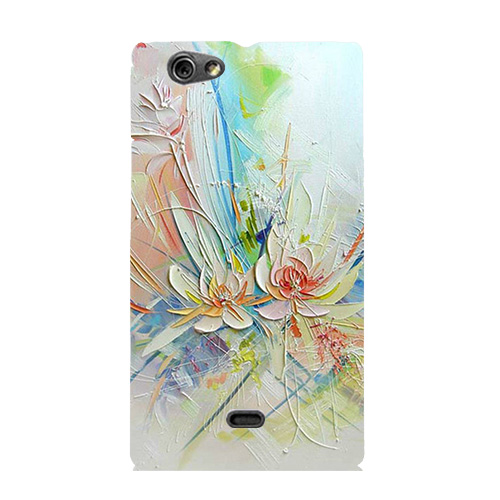 Luxury Painting Coque Cover For Sony Xperia Miro ST23i Colorful Cute Drawing Phone Shell Back cover Ultra Thin Protector Case