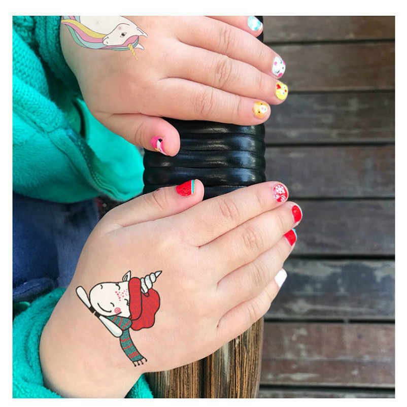 1pcs Emoji Red Hat Unicorn Cartoon Sticker  Gift Toys Boy Girl Children Watermark Tattoo