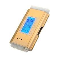 Lcd Pc Voeding Tester Voeding 20/24 Pin 4 Psu Atx Btx Itx Sata Hdd Goud-in Geluidsniveau meters van Gereedschap op