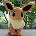 15/30CM Anime  Pocket Monsters Eevee Plush Toy Soft Stuffed Dolls Kids Birthday Gift