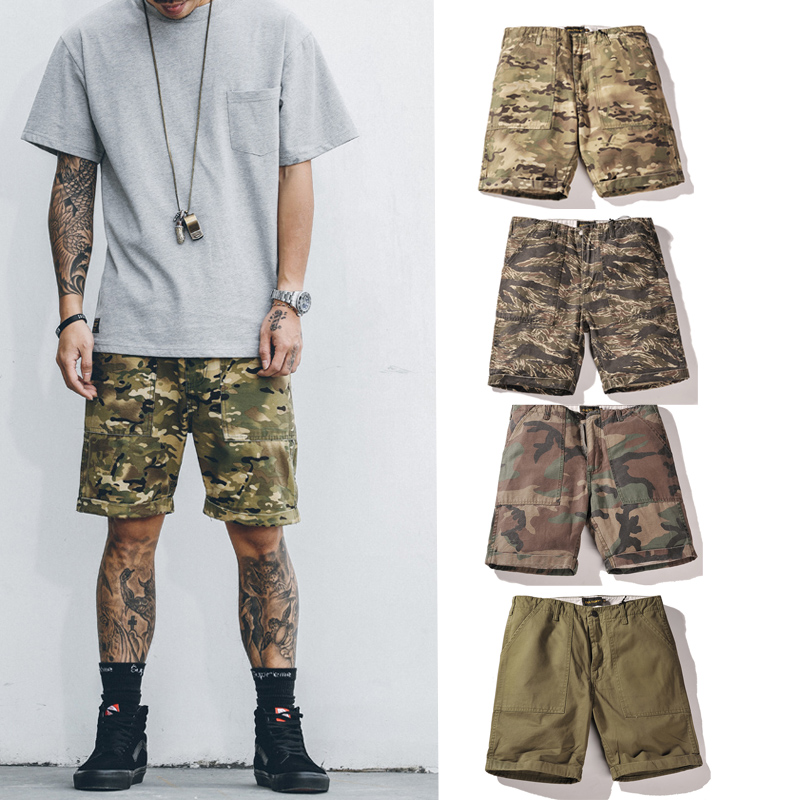 High quality 2017 Hot Sale Men Summer Fashion camouflage Shorts Casual Waist Trousers Shorts beach street wear Skateboard Shorts