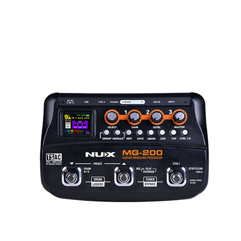 NUX MG-200 New Guitar Effects Processor Modeling Pedal Guitar Multi-Effects Processor with 55 Effect Models Guitar Accessories mooer ge100 guitar effect multi effects processor large high brightness lcd display pedal guitar effect pedal