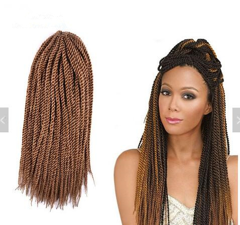 Ombre Crochet Braids 1 pack 30strands/pack 18'' small Senegalese Twist