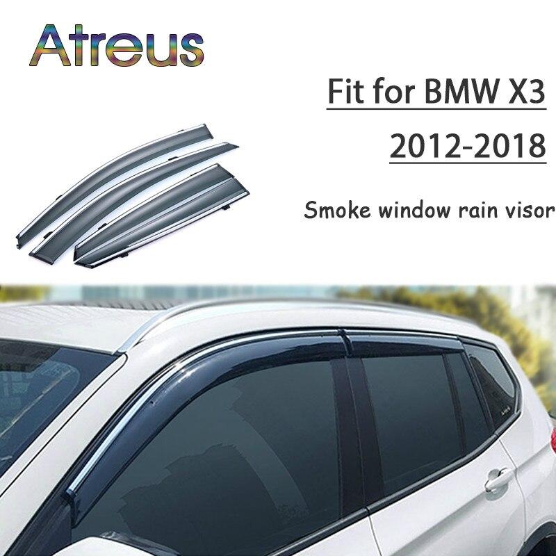 Comprar Atreu 1 conjunto ABS Para 2018 2017 2016 2015 2014 2013 2012 BMW X3  Acessórios Do Carro Dom Defletores Ventilação Guarda fumaça Janela Chuva  Viseira ... 3c0359f57e8