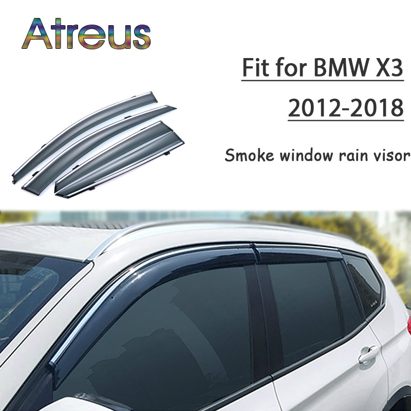 цены Atreus 1set ABS For 2018 2017 2016 2015 2014 2013 2012 BMW X3 Accessories Car Vent Sun Deflectors Guard Smoke Window Rain Visor