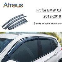 Atreus 1set ABS For 2018 2017 2016 2015 2014 2013 2012 BMW X3 Accessories Car Vent Sun Deflectors Guard Smoke Window Rain Visor