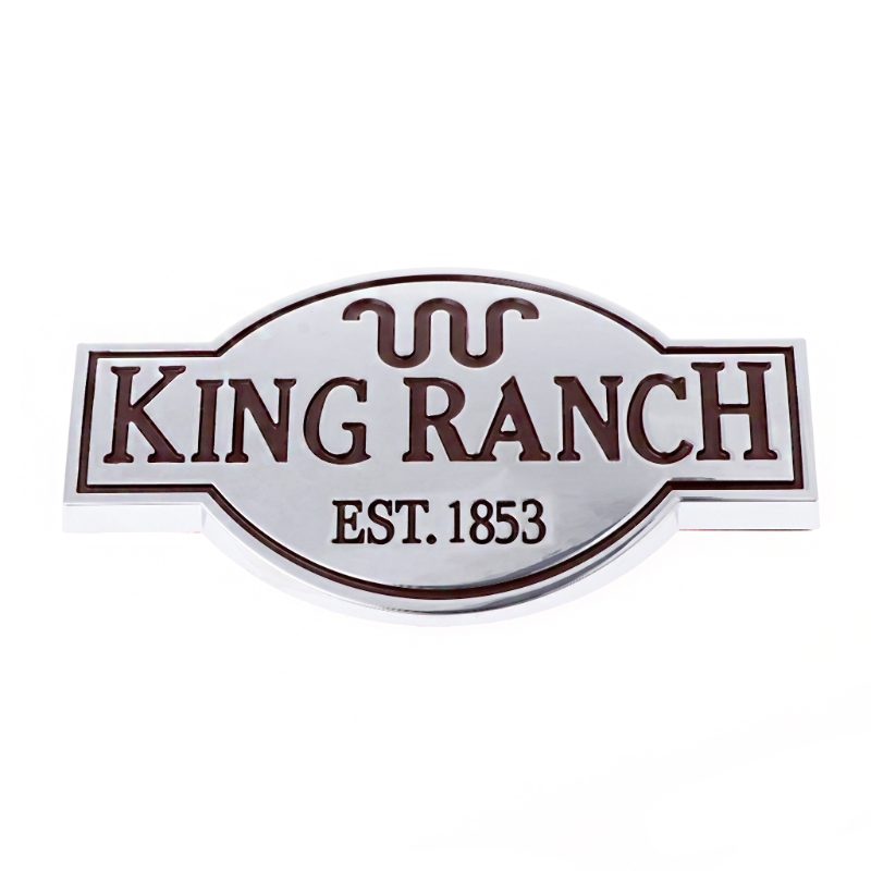 Black King Ranch Emblem  Stainless Steel License Plate Tag For Ford 250 350