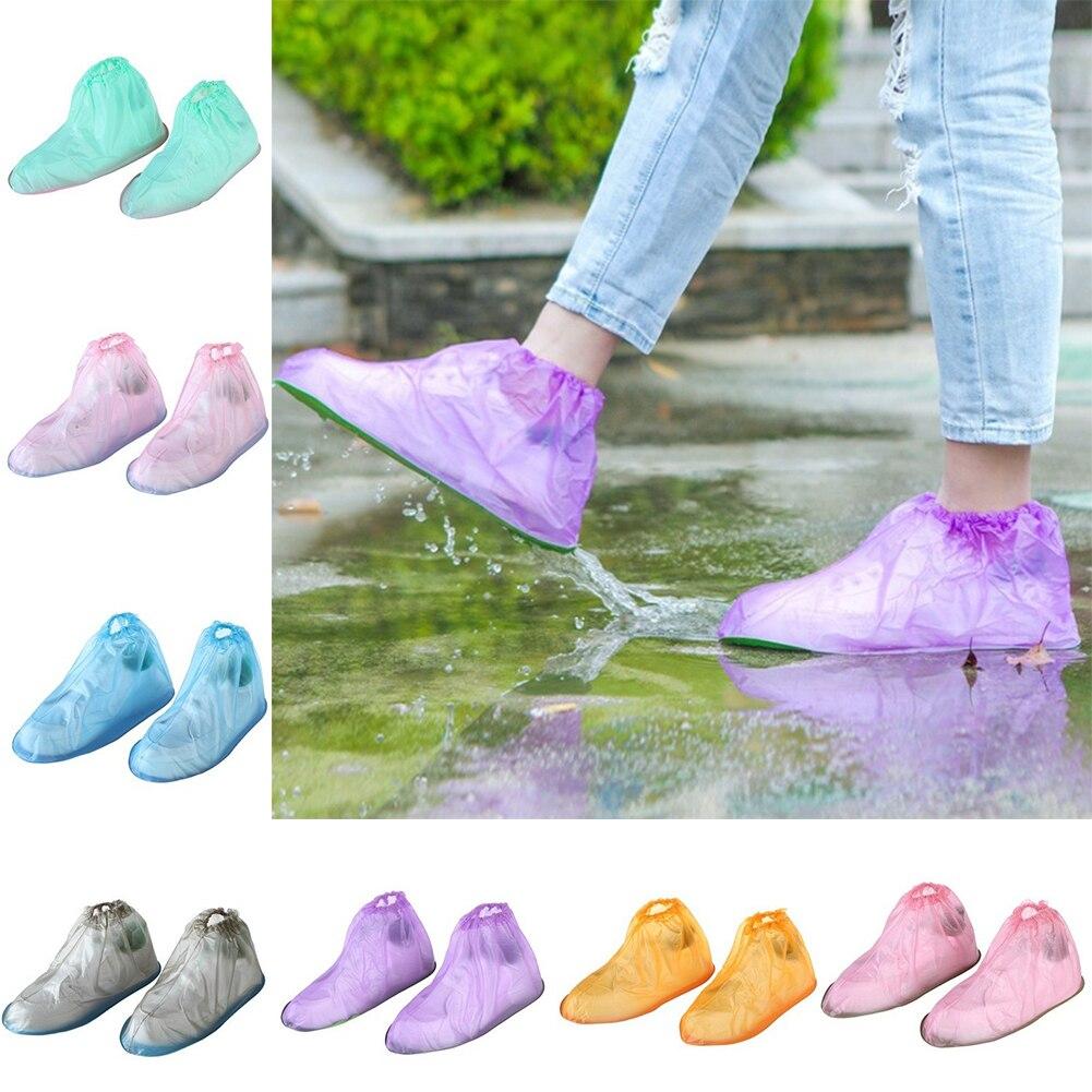 1 Pair Unisex Shoes Cover Reusable Rain Boot Women Waterproof Protector Shoes Boot Rain Anti-slip Shoe Covers Shoes Accessories