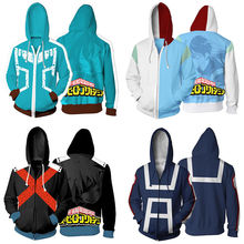 My Hero Academia Boku no Cosplay Costumes Men Women Sweatshirt Fashion zipper Hoodie School Uniforms Jackets Coat