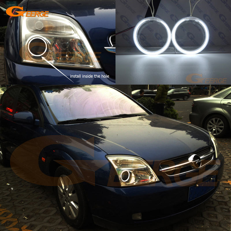 For Opel Vectra C 2002 2003 2004 Excellent Angel Eyes Ultra bright illumination CCFL angel eyes kit Halo Ring for alfa romeo 147 2000 2001 2002 2003 2004 halogen headlight excellent ultra bright illumination ccfl angel eyes kit halo ring