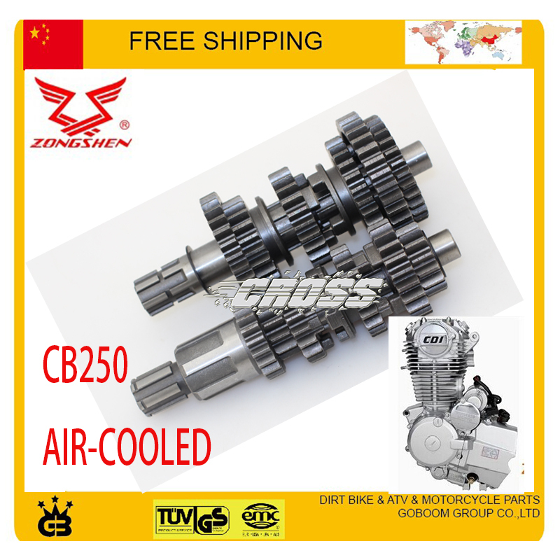 zongshen 250cc CB250 air cooled countshaft mainshaft atv quad dirt bike motorcycle accessories free shipping 125cc cbt125 carburetor motorcycle pd26jb cb125t cb250 twin cylinder accessories free shipping