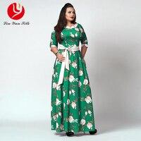 5XL 6XL Sexy Maxi Dress Big Size 2017 Women Autumn Winter Plus Size Party Dress Vintage