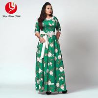 5XL 6XL Sexy Maxi Dress Big Size 2017 Women Autumn Winter Plus Size Party Dress Vintage