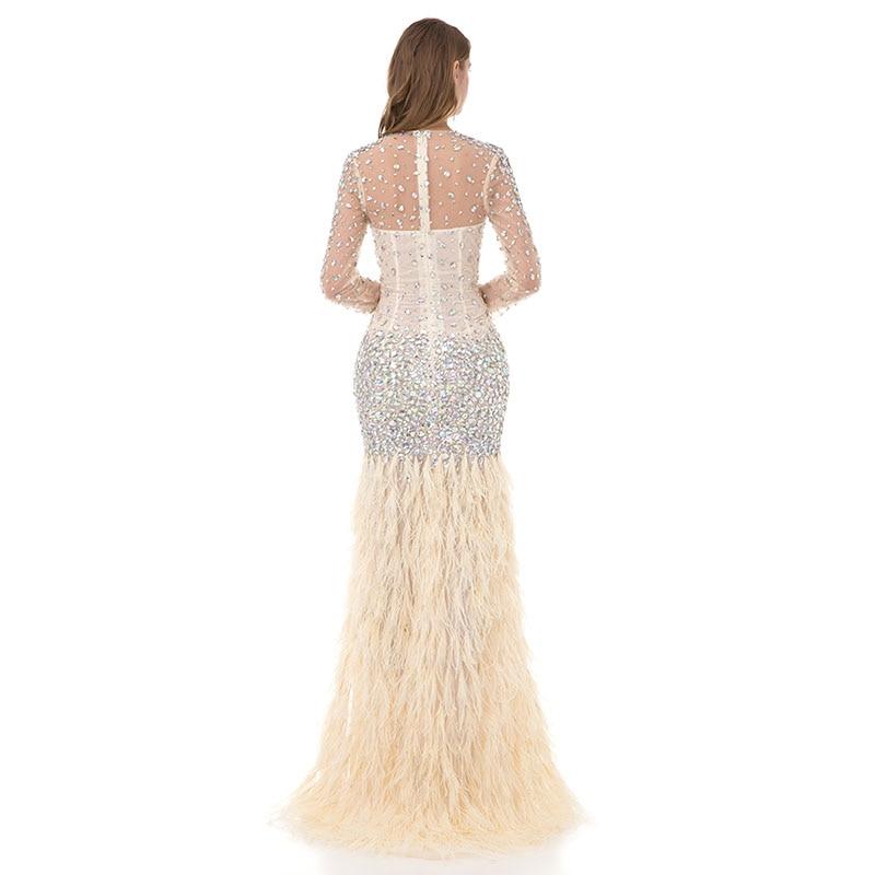 LORIE Kristaller ile Lüks Balo Elbise Akşam Elbise Mermaid Uzun - Özel Günler Için Elbise - Fotoğraf 3
