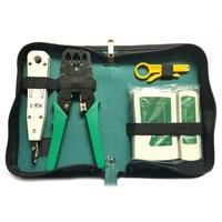 5pcs/Set Network Ethernet Cable Tester RJ45 Kit Crimper Crimping Tools Punch Down RJ11 Cat6 Wire Detector QJY99