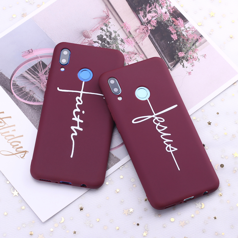 For Xiaomi Mi Redmi Note 5 6 7 8 9 lite Pro Plus Crucifix Christian Cross Jesus Faith Candy Silicon Phone Case Capa Fundas Coque in Fitted Cases from Cellphones Telecommunications