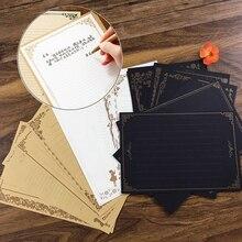 8 листов, винтажный Ретро дизайн, канцелярские принадлежности, блокнот, набор букв