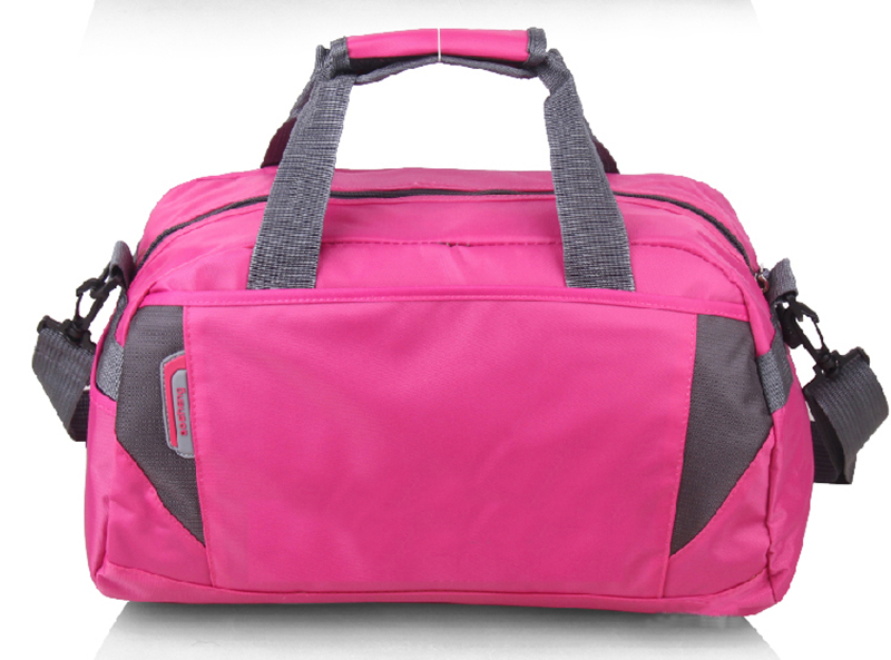 Pink Color Durable Classical Style Custom Promotional Travel Bags With Custom Logo Printed