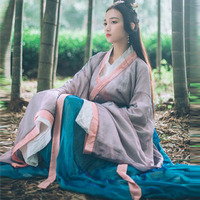 2018 winter chinese traditional dynasty ancient costume women hanfu dress chinese fairy dresses dance costume hanfu clothing