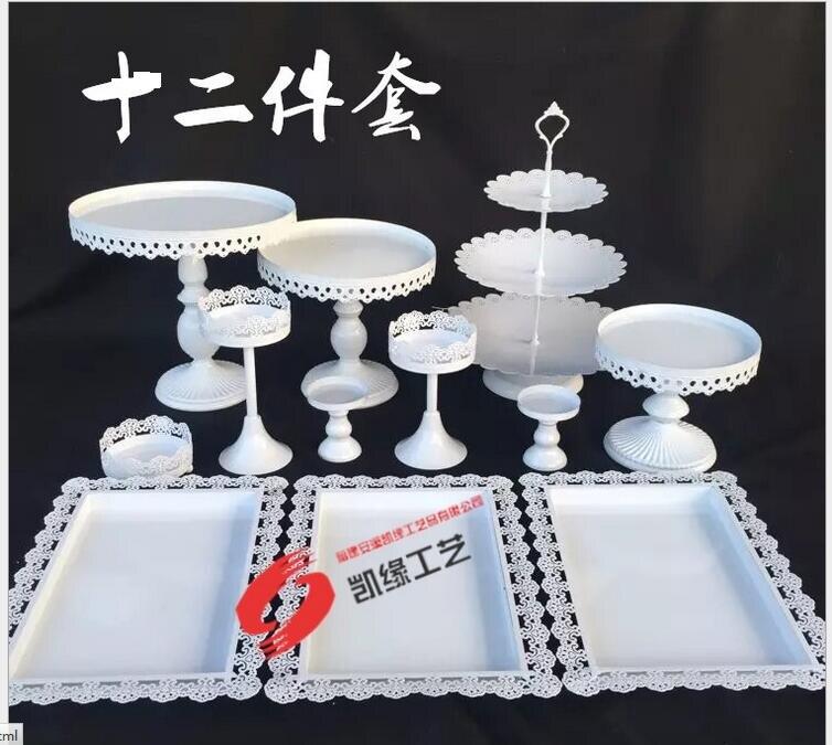 DHL set van 12 stuks gouden taart staan bruiloft cupcake stand - Feestversiering en feestartikelen - Foto 2