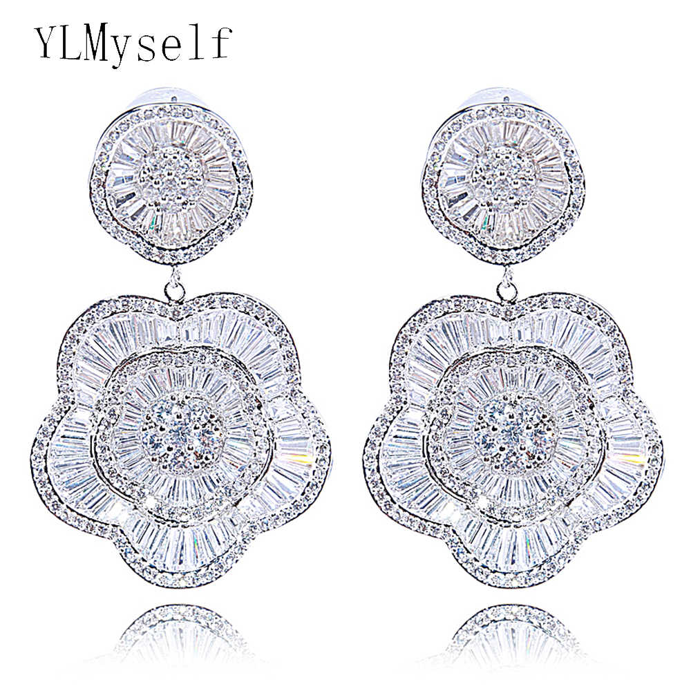Very Large Expensive Drop Earrings For Wedding Party Jewelry