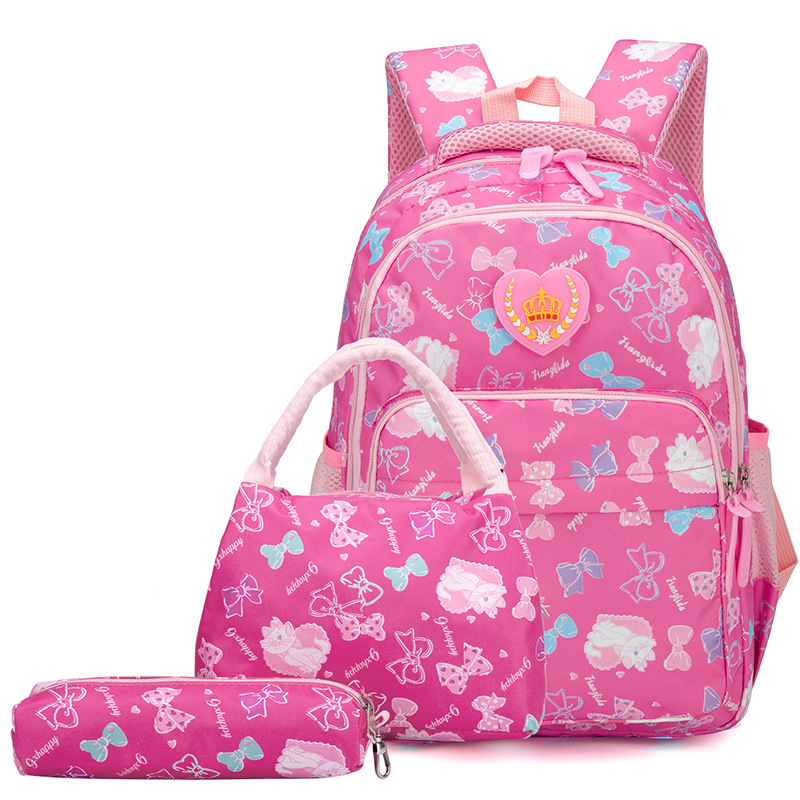 children school bags set girls kids orthopedic
