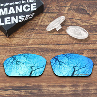 ToughAsNails Resist Seawater Corrosion Polarized Blue Replacement Lens &Clear Nose Pads for Oakley Half Wire 2.0 Sunglasses