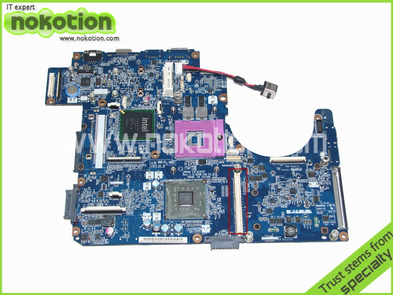 NOKOTION K000064290 JSKAA LA-4161P REV 1.0 for Toshiba Qosmio F50 laptop motherboard PM45 DDR2 with graphics slot k000055760 laptop motherboard for toshiba satellite a200 a205 iskaa la 3481p rev 2a intel gl960 ddr2 without graphcis slot