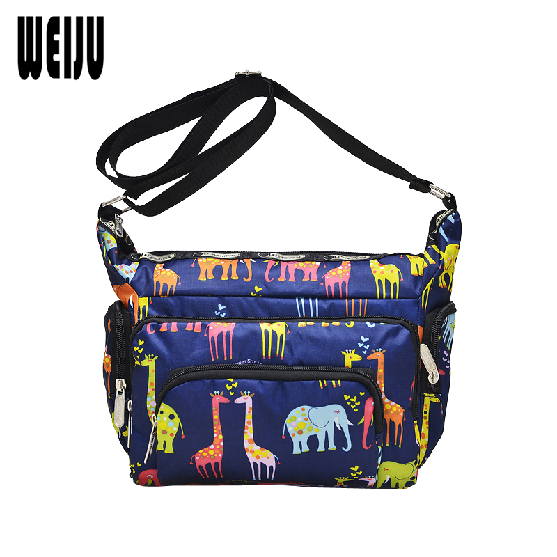 9d8ecc43 Weiju Для женщин сумка Новинка 2017 года сумка Мода Печать Для женщин  нейлон Водонепроницаемый Сумки Мумия Повседневное сумка Для женщин