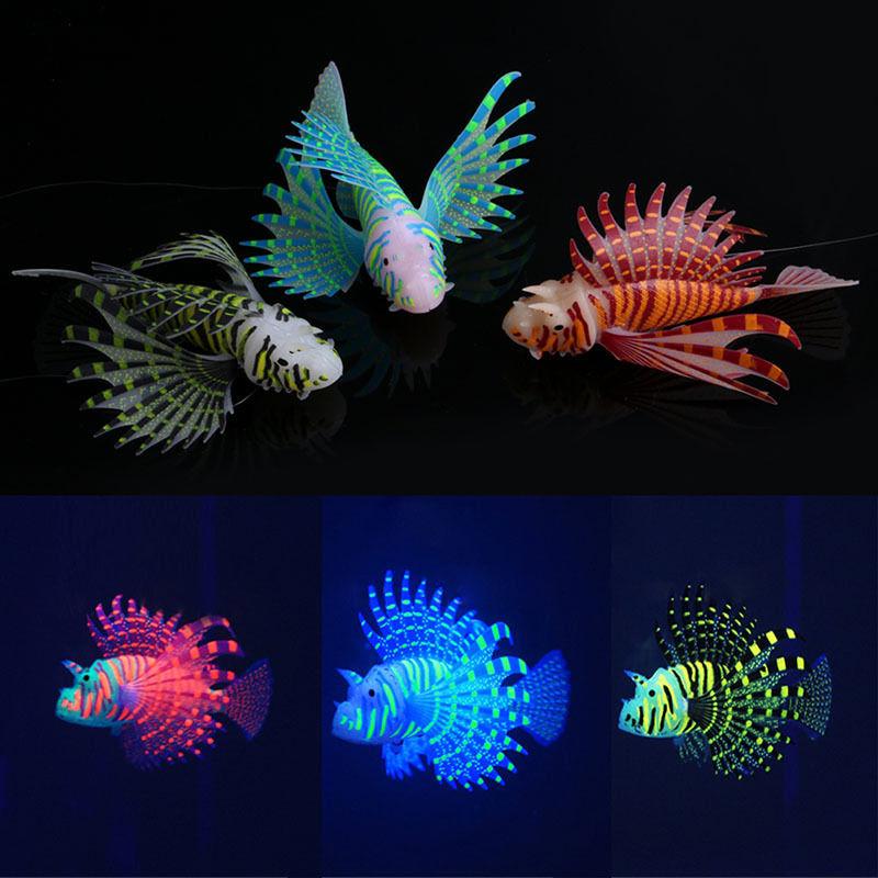 Aquarium Artificial Luminous Silicone Simulation Glowing