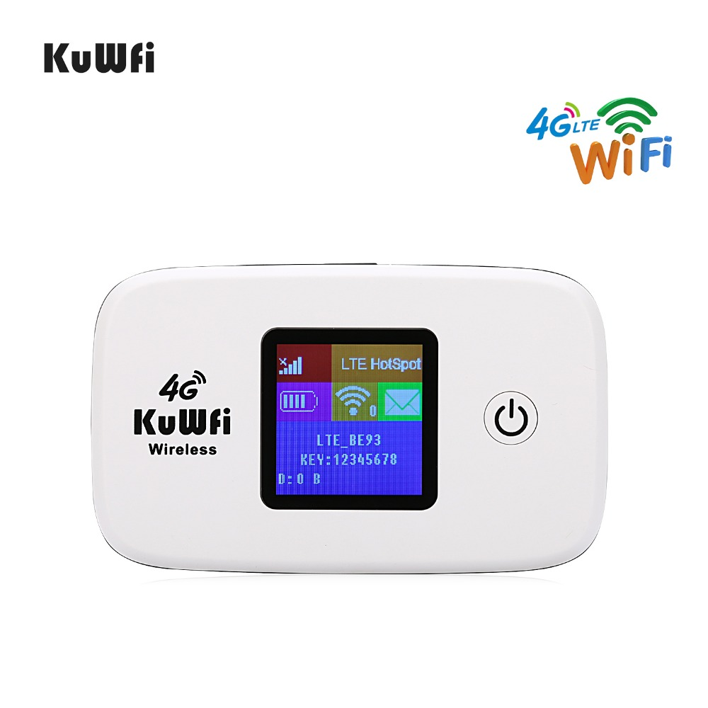 KuWfi Mini 4G Wifi Router Unlocked LTE Wireless Router for Travel  4G Mobile WiFi Hotspot for USA/CA/Mexico/Jamaica/ArgentinaKuWfi Mini 4G Wifi Router Unlocked LTE Wireless Router for Travel  4G Mobile WiFi Hotspot for USA/CA/Mexico/Jamaica/Argentina