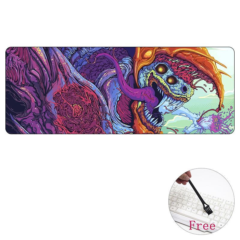 лучшая цена 80*30cm Large Gaming mouse pad Hyper beast for CS GO L XL mat grande AWP for CSGO gamer Mousepad game pc muismat 800x300mm