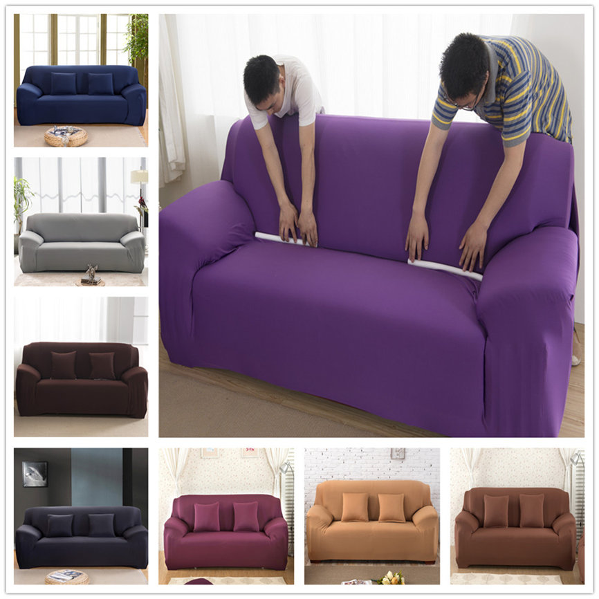 4Seater Sofa Couch Slipcover Stretch Covers Elastic Fabric