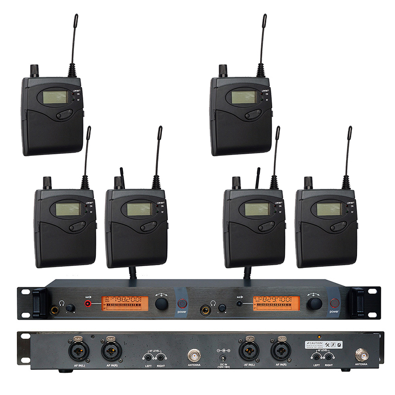 In Ear Monitor Wireless System SR2050 Double transmitter Monitoring Professional for Stage Performance 6 receivers ukingmei uk 2050 wireless in ear monitor system sr 2050 iem personal in ear stage monitoring 2 transmitter 2 receivers