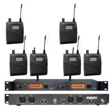 В ухо Мониторы Беспроводной Системы sr2050 Двойной передатчик Мониторы ing Профессиональный для сценического выступления 6 приемники