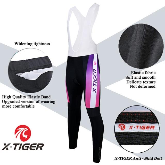 X-Tigre 100% Poliéster Mulher Ciclismo Conjunto Camisa Desgaste Kit Primavera Uniformes De MTB Bicicleta Roupas de Bicicleta Vestuário Ciclismo hombre 4
