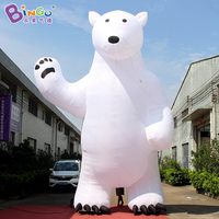Customized white color 6 meters giant inflatable polar bear decorative blow up standing bear replicas for events toys