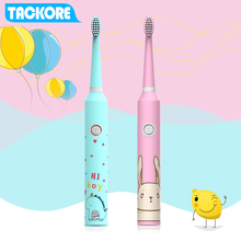 TackOre Carton Children Electric Toothbrush Baby teether training tooth brush Sonic battery kids electric tooth brush Oral Clean oral b sonic electric toothbrush bluetooth rechargeable electronic deep clean ibrush 9000 cross action electric tooth brush