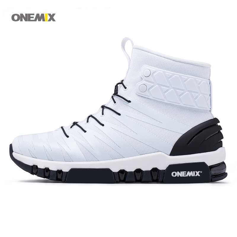 ONEMIX 2017 Newest Women's sports running shoes warm high top comfortable boots knit vamp for women walking sneakers 1298 outdoor sport women high top running shoes genuine leather running boots sneakers women plus big size
