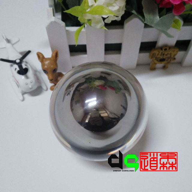 Free Shipping Christmas Gift Magic Ball Trick Acrylic Contact Juggling Ball  (75mm Stainless Steel Ball