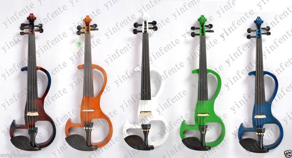 Violin 4/4 Electric Violin Powerful Sound Blue Green White Black Red #2 фонарь black diamond wiz headlamp electric blue bd620624elblall1