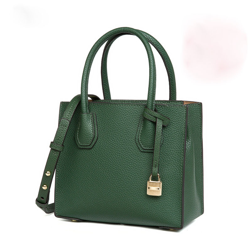 Korean version of the trend of the charm of pure women leather handbags star with the low-key luxury lock head shoulder bag qiaobao 2018 new korean version of the first layer of women s leather packet messenger bag female shoulder diagonal cross bag