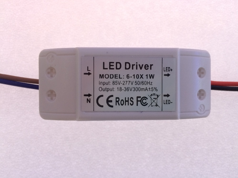 6-10x1w 6w 7w 8w <font><b>9w</b></font> 10w <font><b>LED</b></font> <font><b>Driver</b></font> Power Supply 300mA input85-277v for <font><b>Led</b></font> ceilling light panel light downlight Transformers image